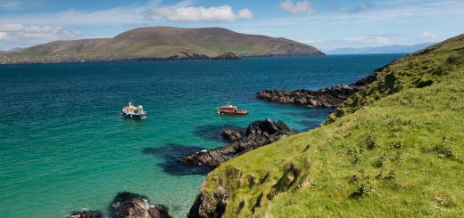 The Blasket Islands, an uninhabited group of islands off the west coast of County Kerry.