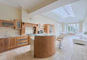 luxury kitchen in self catering home