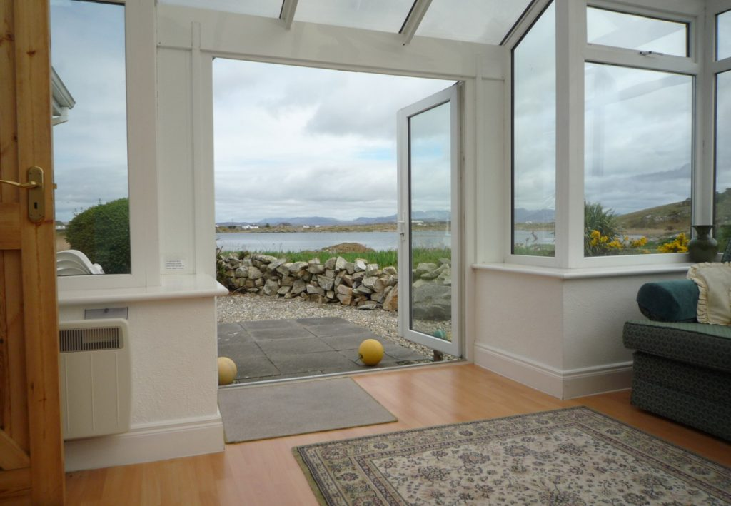 View from Ballyconneely Holiday Cottages in Connemara County Galway
