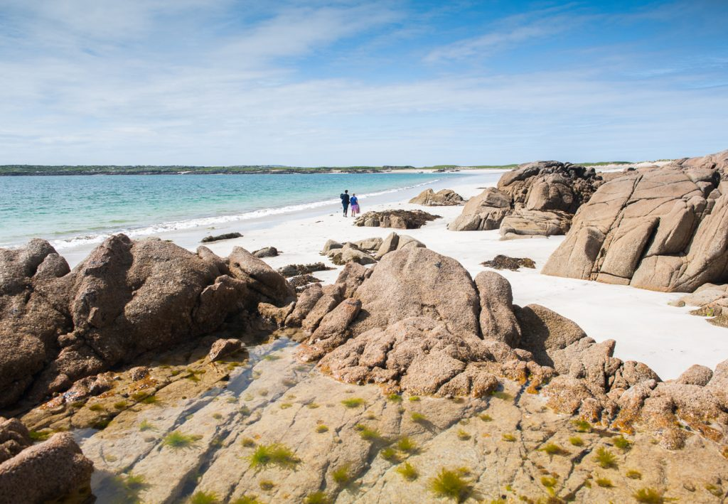 Gurteen Beach near our self catering cottages in Connemara County Galway