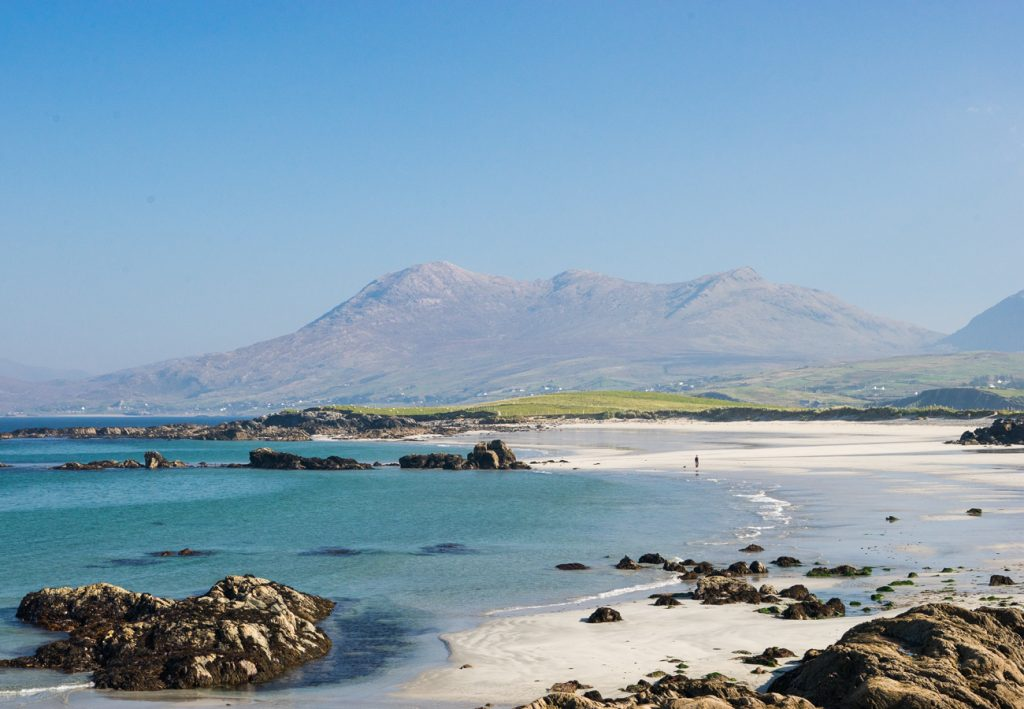 Renvyle Beach near our self catering cottages in Connemara County Galway
