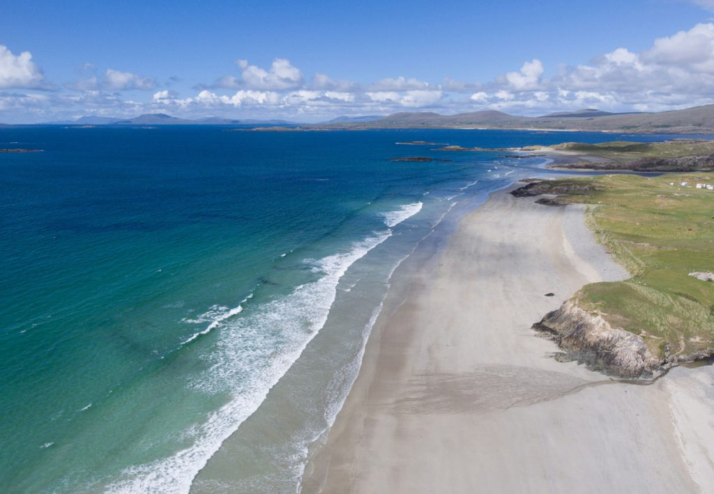 Aerial View of Galway's Wild Atlantic Way in Connemara County Galway