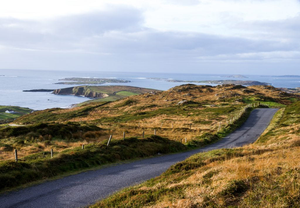Sky road near our self catering cottages in Clifden in Connemara County Galway