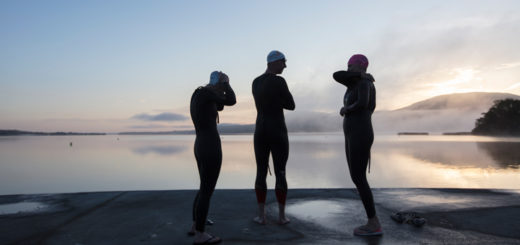 Outdoor adventures this New Year's in Ireland Friends early swim at Ballycuggeran, County Clare © Patrick Bolger