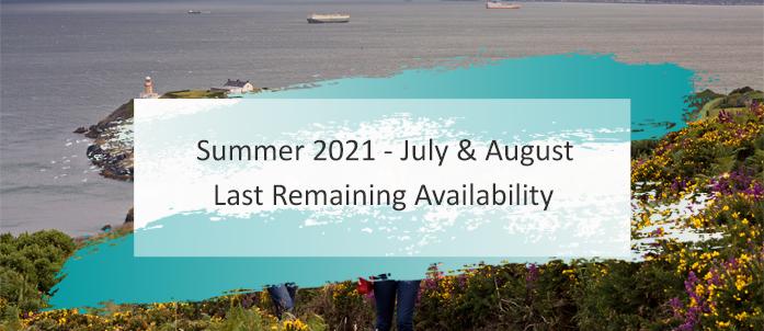 Summer 2021 Last Remaining Availability