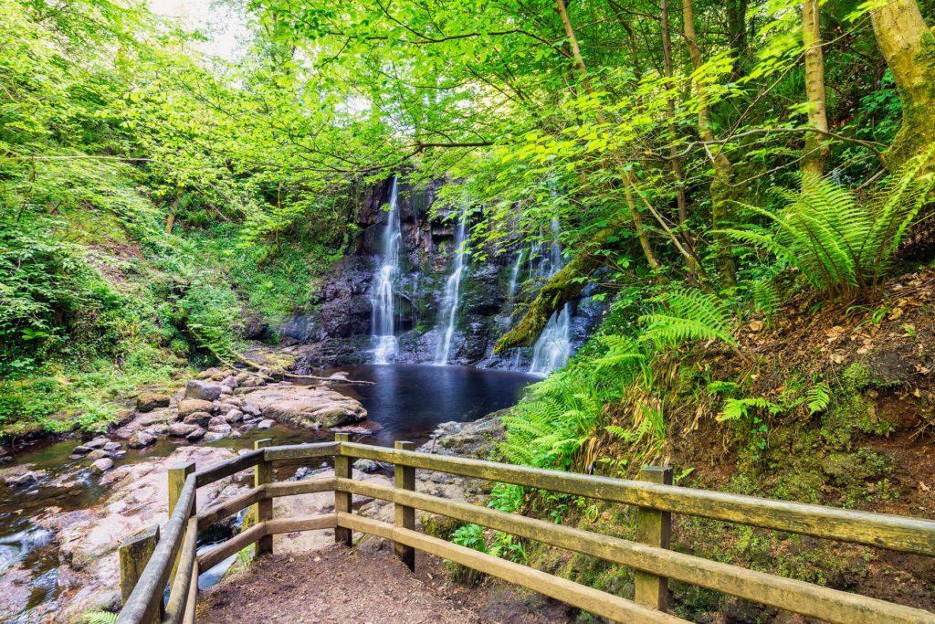 Glenariff Forest Park - Ess na Crub Waterfall © Tourism Ireland photographed by Stefan Schnebelt